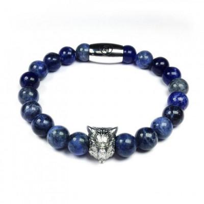 B' Wolf Bracelet   Blue