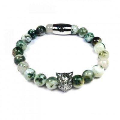 B' Wolf Bracelet   Green