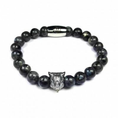 B' Wolf Bracelet   Grey