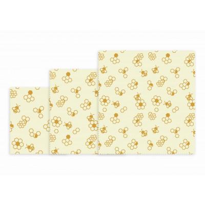Wiederverwendbares Lunchpaket mit 3 Stück   Wabe (Honeycomb)