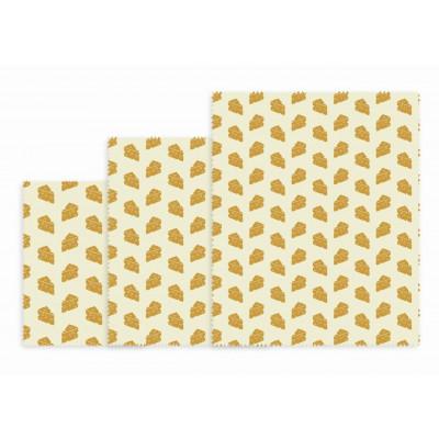 Wiederverwendbare Lunchpakete 3er-Set   Käse