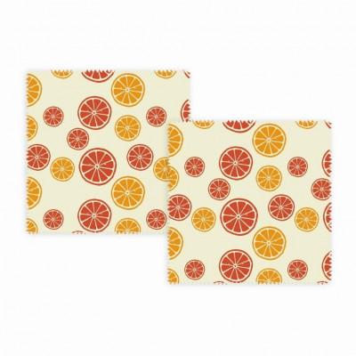 Wiederverwendbare Lunchpakete 2er-Set   Zitrusfrüchte