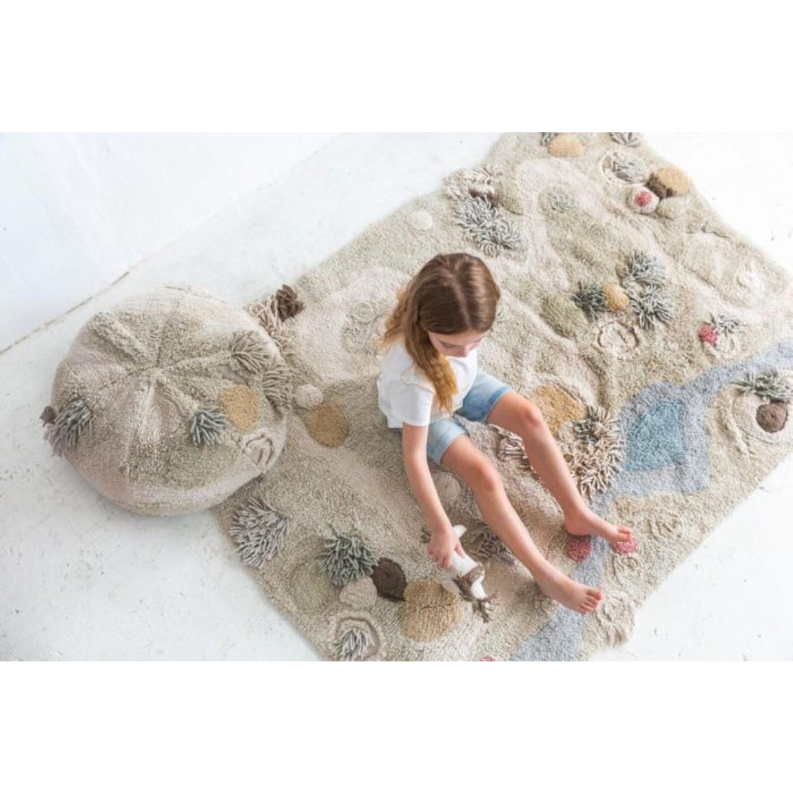Waschbarer Spielteppich Weg der Natur