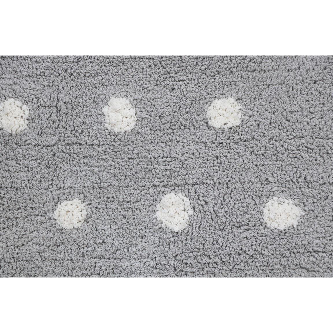 Waschbarer Teppich Mini Cookie Perlgrau