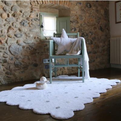 Waschbarer Teppich  | Biscuit | Weiß