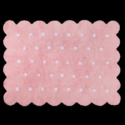Waschbarer Teppich  | Biscuit | Pink