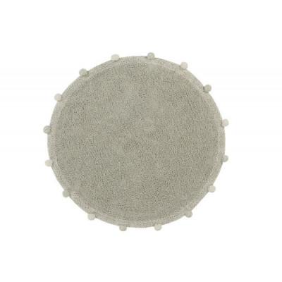 Waschbarer Teppich Rund   | Bubbly | Olivgrün & Natürlich