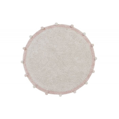 Waschbarer Teppich  | Bubbly | Natürlich & Pink