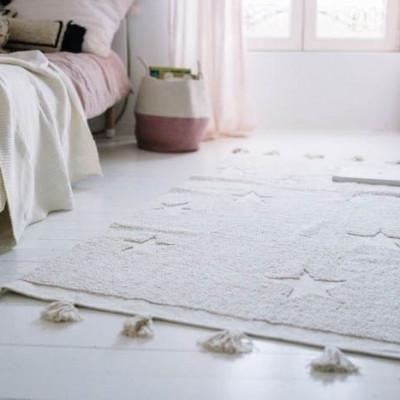 Waschbarer Teppich  | Hippy Stars Beige