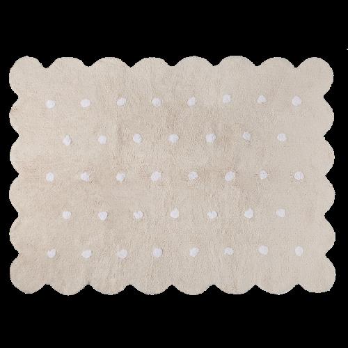 Waschbarer Teppich    Biscuit   Beige