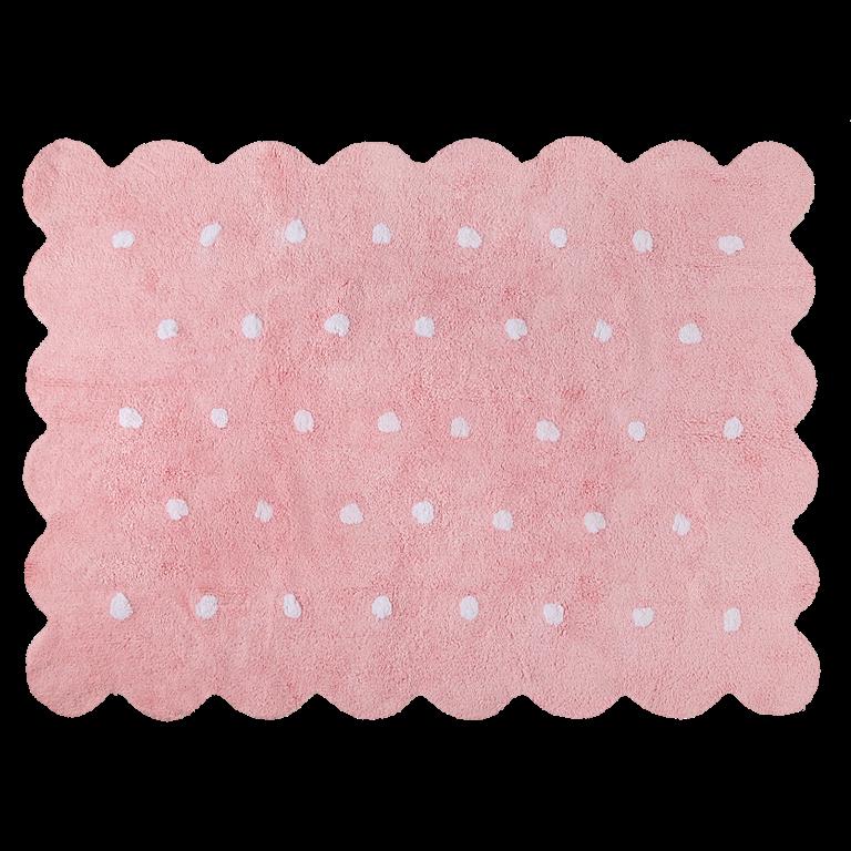 Waschbarer Teppich    Biscuit   Pink