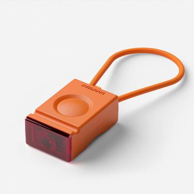 Rechargeable Rear Bike Light Block | Orange