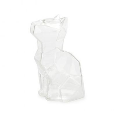 Vase Sphinx Katze 15 cm | Transparent