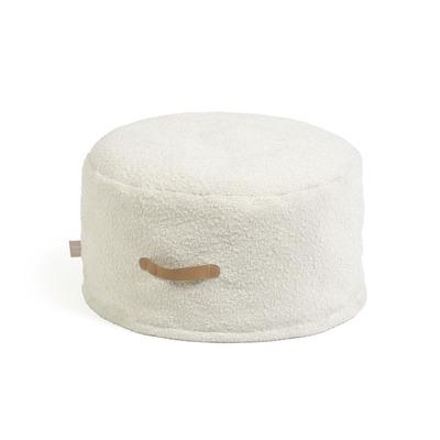Pouf Adara Ø 50 cm I Weiß