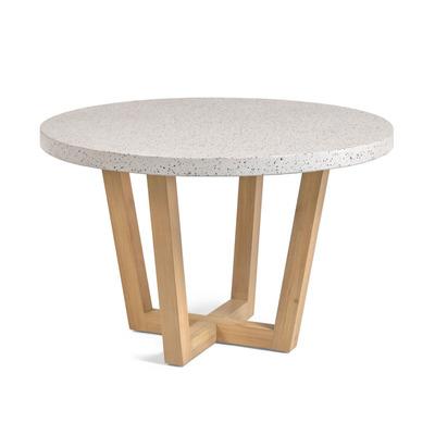 Runder Tisch Shanelle Innen/Außen | Terrazzo Weiß