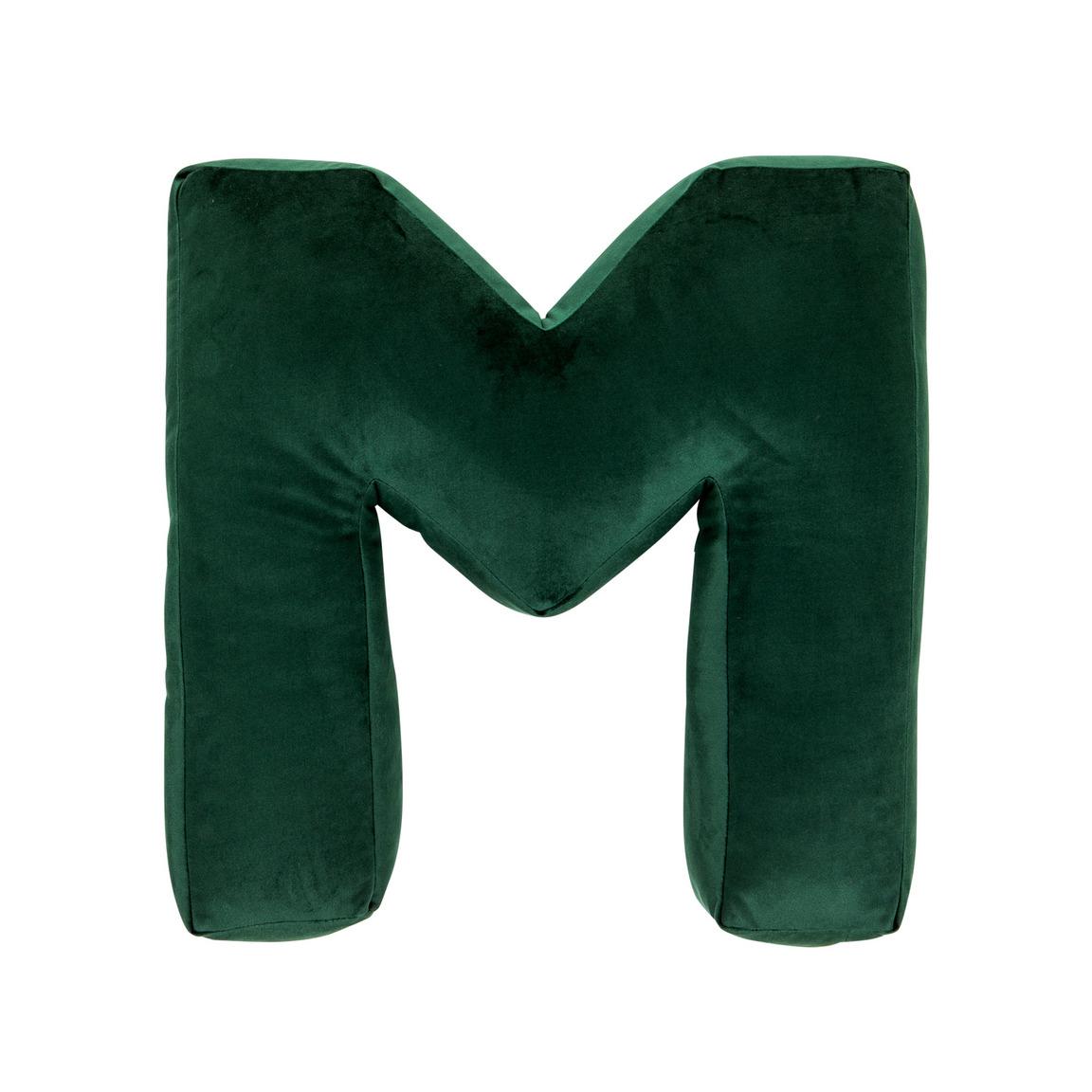 Cushion Letter Velvet Green | M