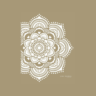 Schablone Mandala   Yoga