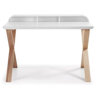 Schreibtisch   Eschenholz & Weiß