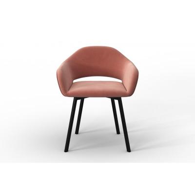 Stuhl Oldenburg | Powder Pink-Samt Touch