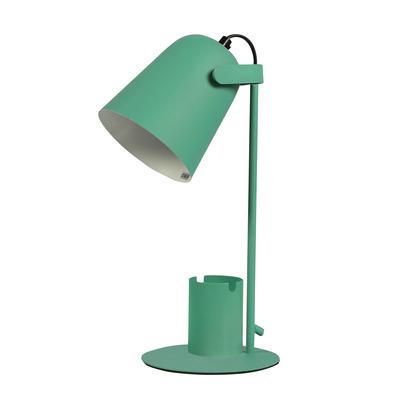 Tischlampe mit Stift- und Handyhalter   Grün
