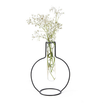 Vase Silhouette Ronde 15 cm   Noir