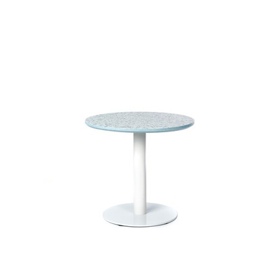 Runder Tisch Terazzo Niedrig | Himmelblau