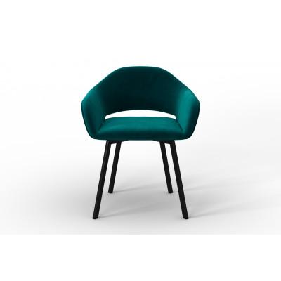 Stuhl Oldenburg | Blau Petrol-Samt Touch