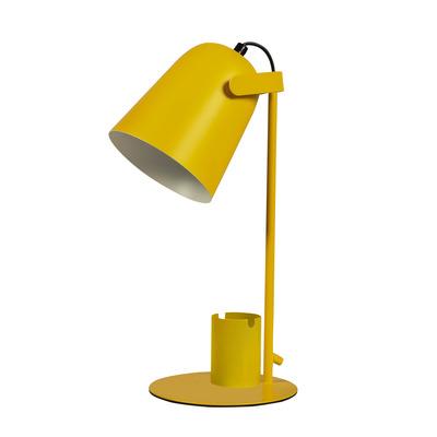 Tischlampe mit Stift- und Handyhalter   Gelb