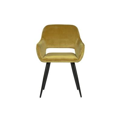 2-er Set Stühle Samt Jelle | Gelb