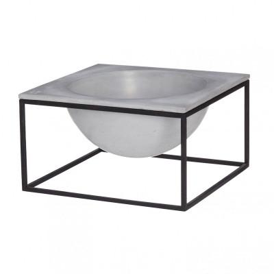 Moon Bowl   Black Steel Frame / Grey Top