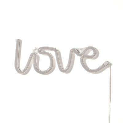 Neon-Wandleuchte Love | Weiß