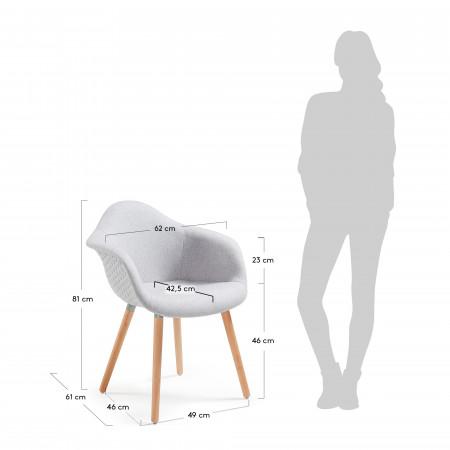 Armchair Kenna | Light Grey