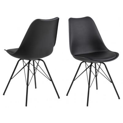 Set de 2 Chaises Iris | Noir