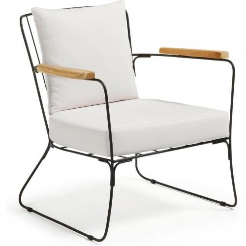 Sessel | Schwarz-Weiß-Kissen