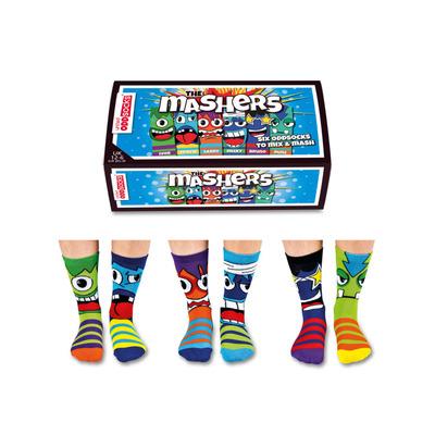 Herren-Geschenkbox 6er-Pack Socken Mashers   39-46