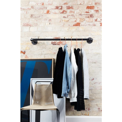 Wall-Mounted Clothes Rail Joey 80 cm I Black