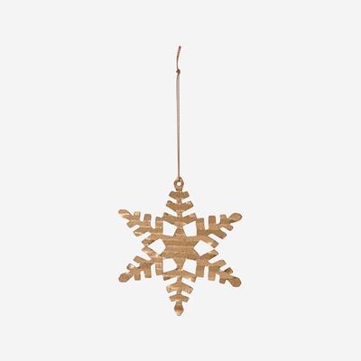 4er-Set Schneeflocken-Ornamente | Messing