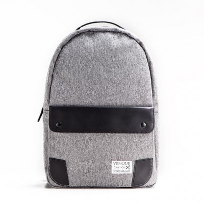 The Classic Backpack | Grey & Black