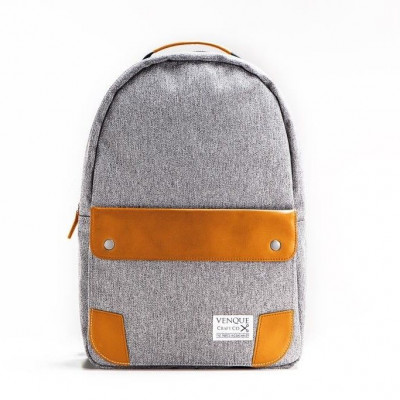 The Classic Backpack | Grey & Tan