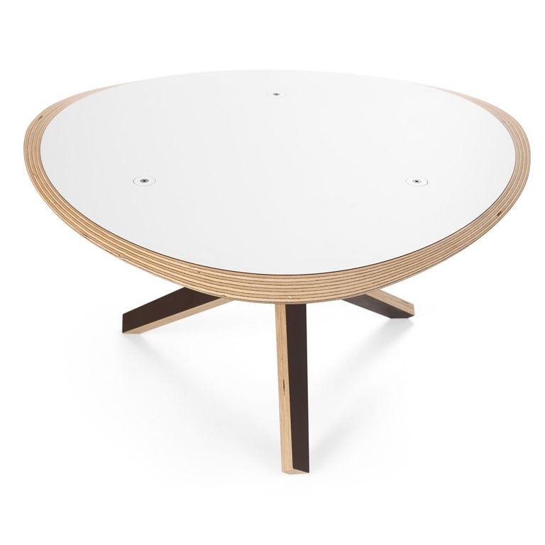 C Coffee Table   White/Ochre