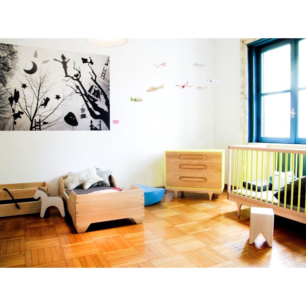 Wohnwagen-Babybett - Rosa
