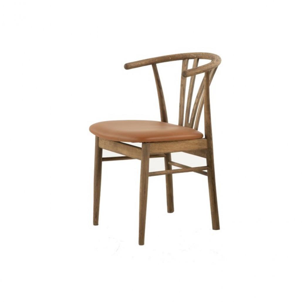 Stuhl Baron | Geräucherte Eiche & Cognac