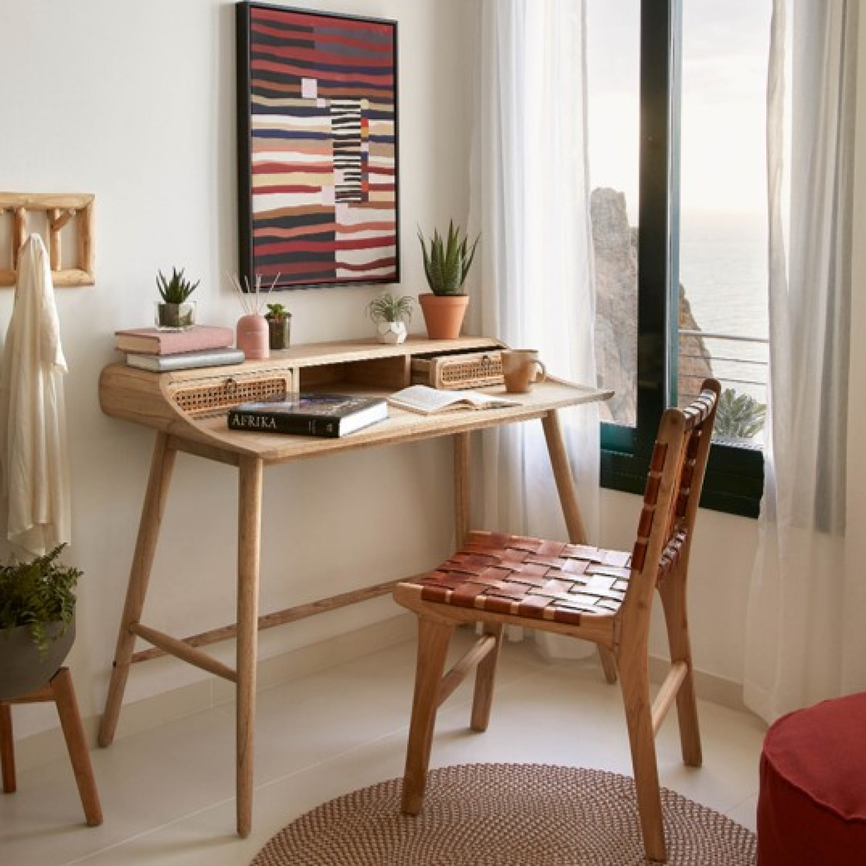 Chair Calixta | Leather & Wood