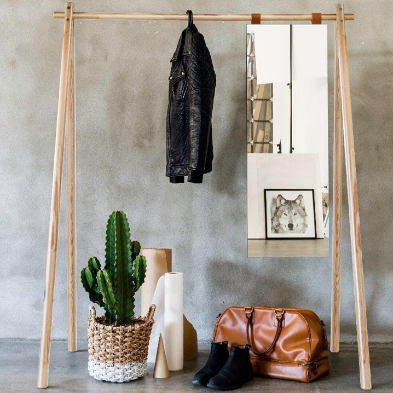 Porte-vêtements avec Miroir Hongi | Noir