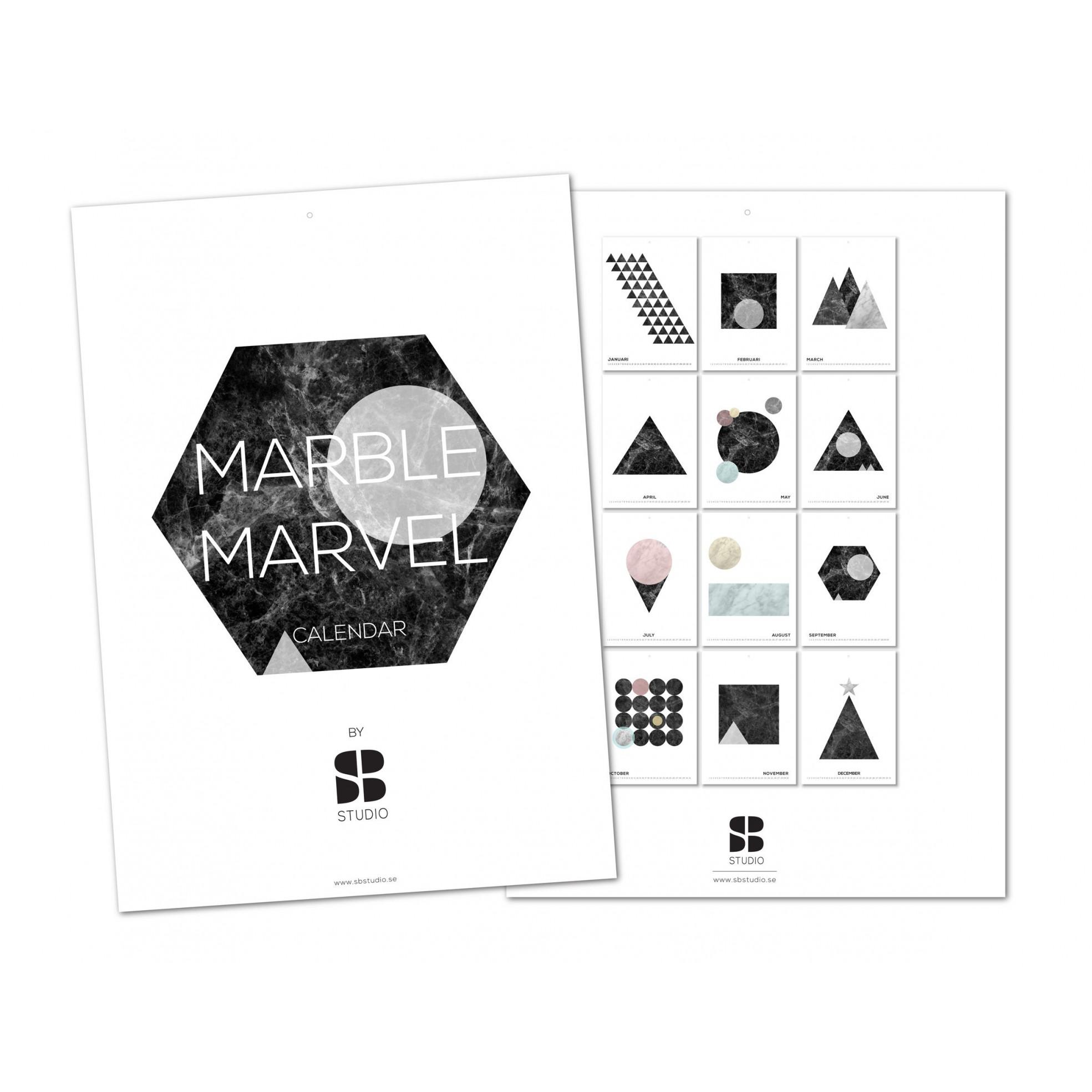 Marmor Marvel Ewigkeitskalender