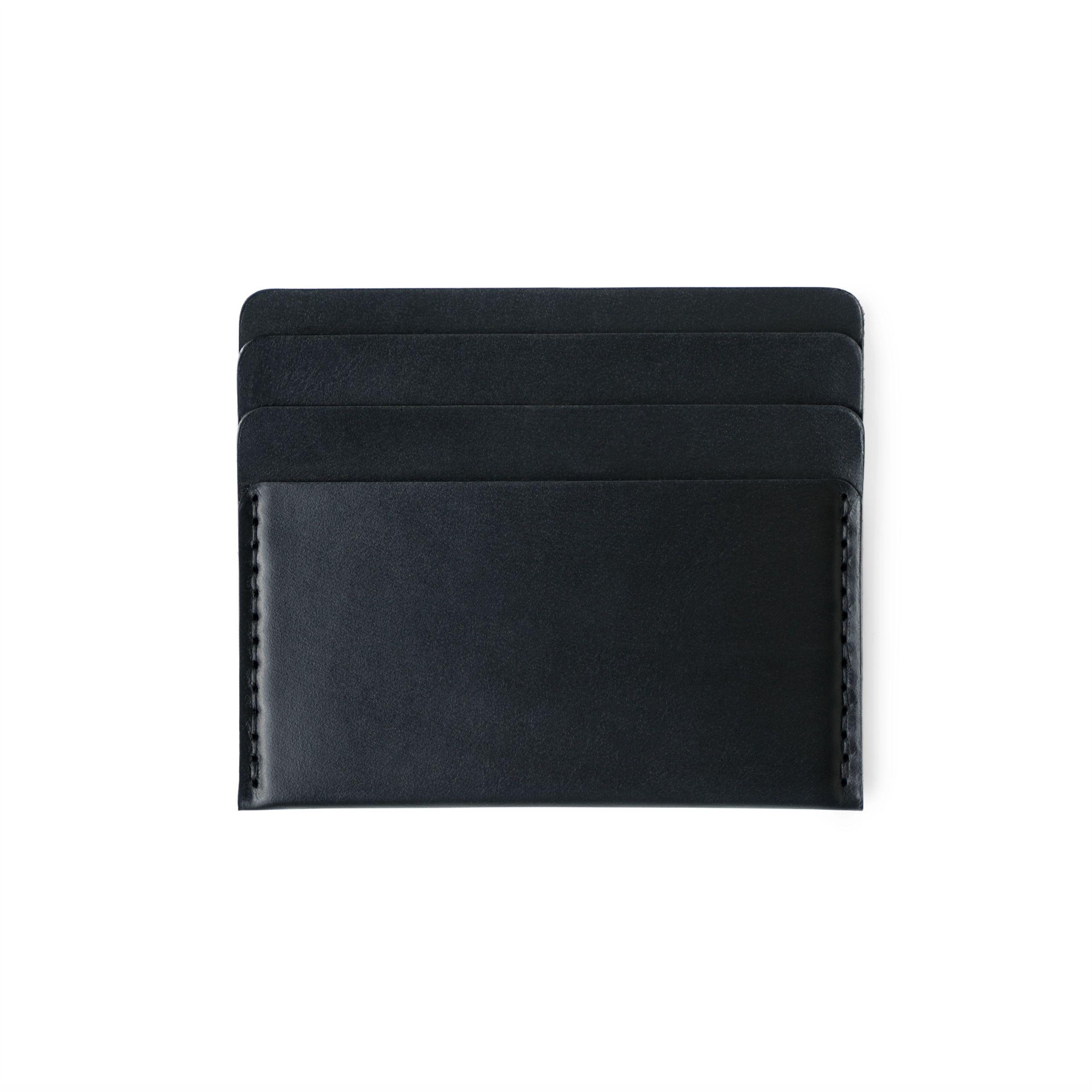 Cascade Wallet   Black Essex Horween Leather