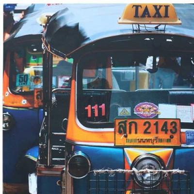 Tuk-Tuk-Taxi auf Leinwand