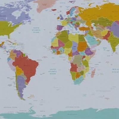 Leinwand | Weltkarte