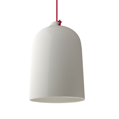 Industrial Ceramic Dome | White & Red