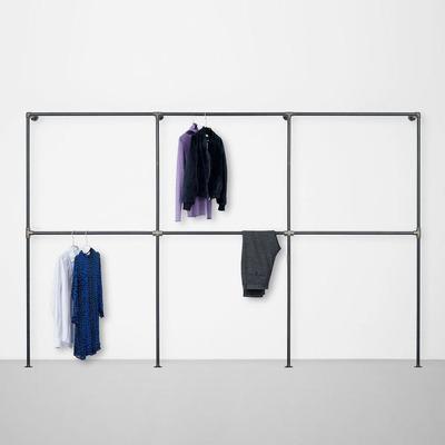 The Walk-In 3 Row Wardrobe System I Black